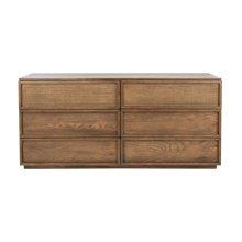 Zeus 6 Drawer Wood Dresser - Natural