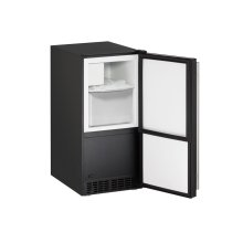 """Ada Series 15"""" Crescent Ice Maker With Black Solid Finish and Field Reversible Door Swing (115 Volts / 60 Hz)"""