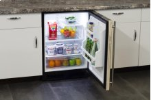 """24"""" All Refrigerator with MaxStore Utility Bin (Marvel) - Smooth White Door, Left Hinge"""