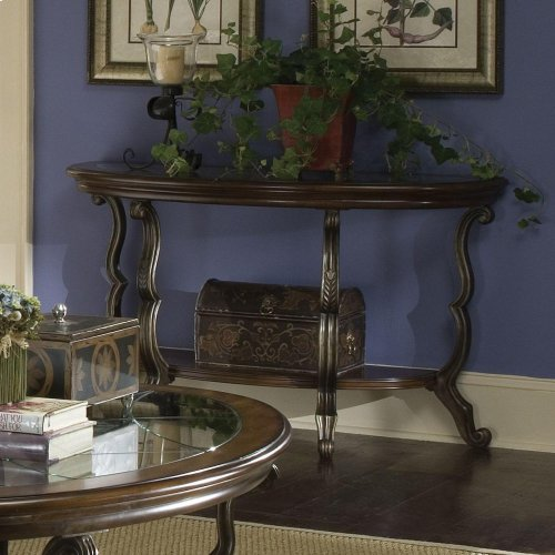 Ambrosia - Demilulne Sofa Table - Terra Sienna Finish