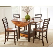 Abaco Extendable Round Counter Height Dining Room Set