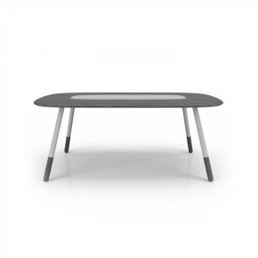 78'' table with lacquered glass