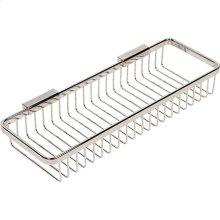 Polished Nickel Long Deep Toiletry Basket