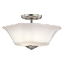 Serina Collection Serina 2 Light Semi Flush in NI