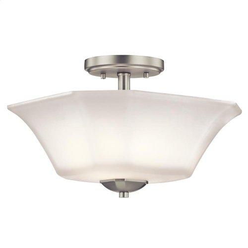 Serina Collection Serina 2 Light Semi Flush in NI