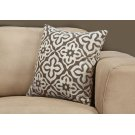"PILLOW - 18""X 18"" / DARK TAUPE MOTIF DESIGN / 1PC Product Image"