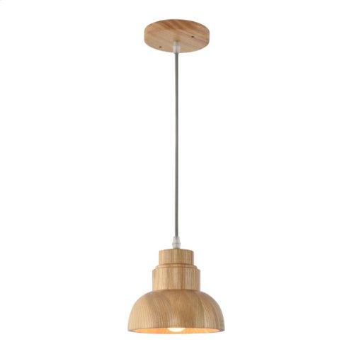 Light Pendant in Wood Finish