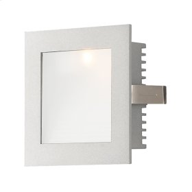 Step Lt - Wall Recessed, New Const (Xenon) w / lamp. Opal lens / Grey trim.