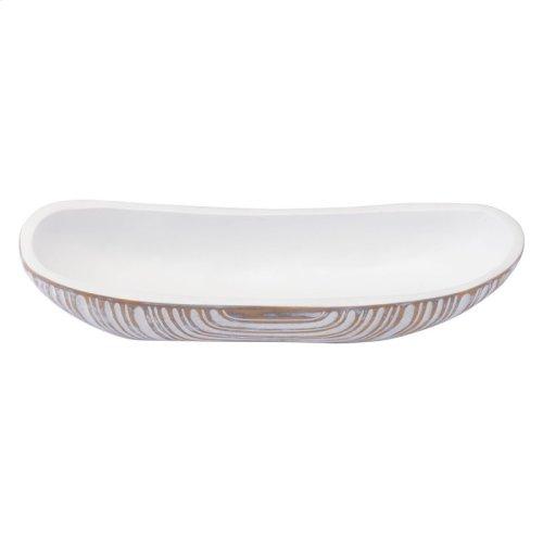 White Poly Bowl Antique White