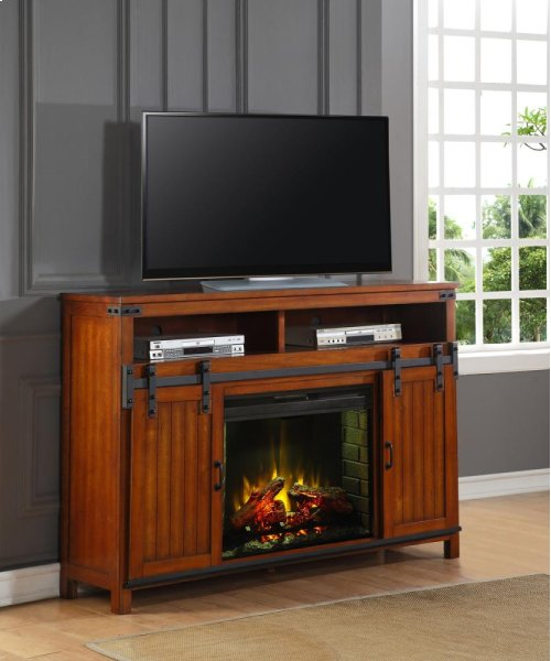 Industrial Fireplace Console