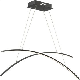 Fanfare Island Chandelier in Earth Black