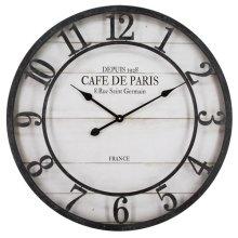 Cafe De Paris Shiplap Wall Clock