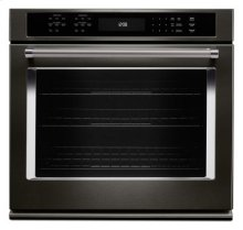 """30"""" Single Wall Oven with Even-Heat™ True Convection - Black Stainless"""