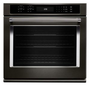 "30"" Single Wall Oven with Even-Heat True Convection - Black Stainless"