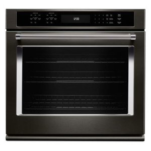 """KITCHENAIDBLACK STAINLESS30"""" Single Wall Oven with Even-Heat True Convection - Black Stainless"""