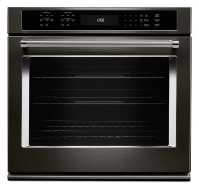 "30"" Single Wall Oven with Even-Heat™ True Convection - Black Stainless Product Image"