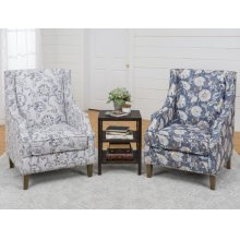 Two Westbrook Blue Chairs and One 4500 Chairside
