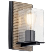 Millwright 1 Light Wall Sconce Distressed Antique Gray