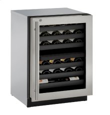 "Modular 3000 Series 24"" Wine Captain® Model With Stainless Frame (lock) Finish and Right-hand Hinged Door Swing"