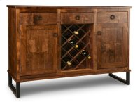 Cumberland Sideboard w/2 Wood Doors & 3/Dwrs & 2/Wood Adjust. & Wine Rack Product Image