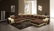 Divani Casa 4084 Contemporary Brown and Beige Bonded Leather Sectional Sofa