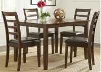 5 Piece Rectangular Leg Table Set Product Image