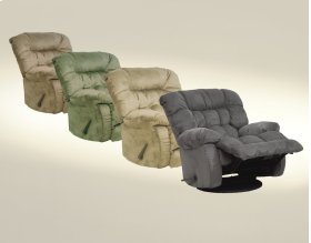 Chaise Swivel Glider Recliner - Graphite