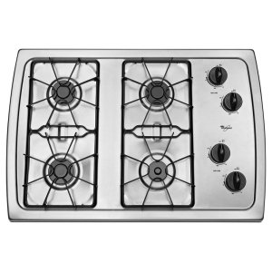 WHIRLPOOL30-Inch Gas Cooktop With 5,000 Btu Accusimmer(r) Burner