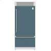 "Hestan 36"" Pro Style Bottom Mount, Top Compressor Refrigerator - Krp Series - Pacific-Fog"