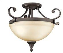 Monroe 2 Light Semi Flush Olde Bronze®