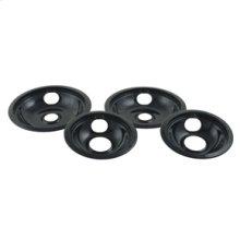 Black Porcelain Replacement Burner Bowls - 4 Pack(Oven & Range)