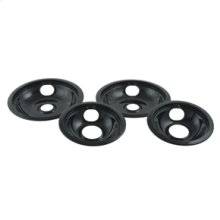 Black Porcelain Replacement Burner Bowls - 4 Pack(Oven & Range)