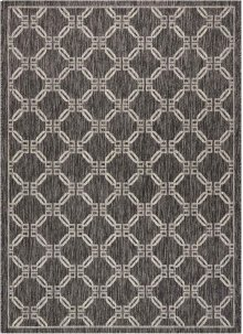 Country Side Ctr02 Charcoal Rectangle Rug 5'3'' X 7'3''