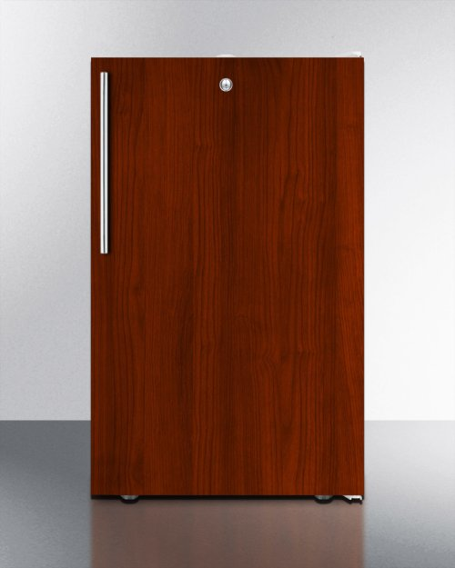 """Commercially Listed ADA Compliant 20"""" Wide Built-in Refrigerator-freezer With A Lock, White Exterior, and Integrated Door Frame for Overlay Panels"""