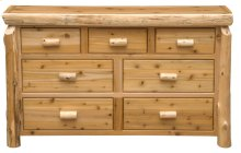 Seven Drawer Dresser - Natural Cedar - Premium
