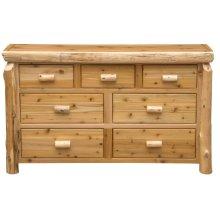 Seven Drawer Dresser - Natural Cedar - Premium