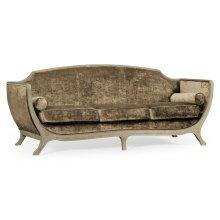 Empire Sofa - Grey Weathered & Velvet Calico