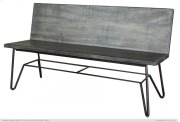 Solid wood Bench w/ Back Rest finish Moro Product Image