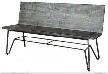Solid wood Bench w/ Back Rest finish Moro