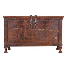 Antique Wood Storage Box Ue64