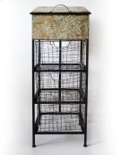 Emerald Home Ac389 Lexington Accent Cabinet, Antique Metal Product Image