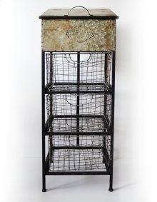 Emerald Home Ac389 Lexington Accent Cabinet, Antique Metal