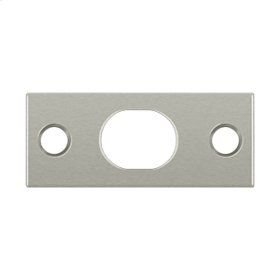 Strike Plate For Extension Flush Bolt - Brushed Nickel