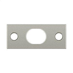 Strike Plate For Extension Flush Bolt - Brushed Nickel