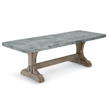 Lfd - Trestle Table With Zinc Stitched Top