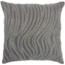 "Luminescence E1569 Grey 18"" X 18"" Throw Pillows"