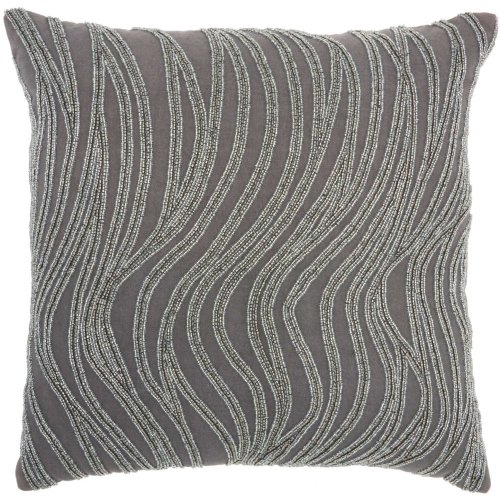 "Luminescence E1569 Grey 18"" X 18"" Throw Pillows"