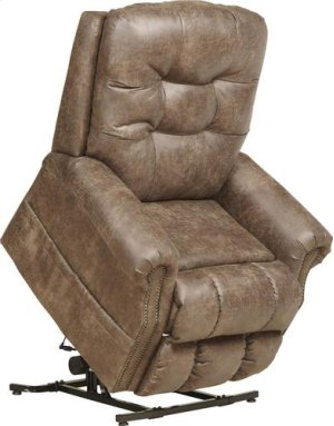 Pwr Lift Lay Flat Recliner w/ Heat & Massage - Silt