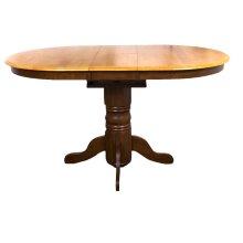 DLU-TBX4266CB-NLO  Pedestal Pub Table  Nutmeg with Light Oak Finish Butterfly Top
