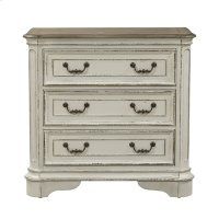 3 Drawer Bedside Chest w/ Charging Station Product Image